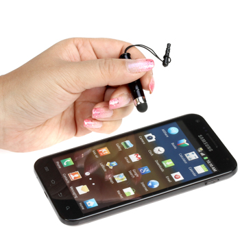 Mini Stylus with 3.5mm Adapter Plug - Black