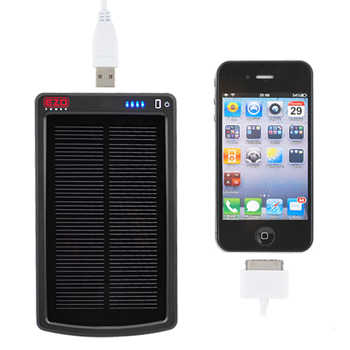 EZOPower Portable Solar External Battery Charger (3000MAH) (1A) - Black (EZEBA12)