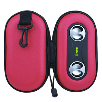 iKross Portable Stereo Speaker Protective Case - Red (IKSP10R)