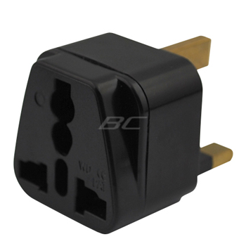 All-in-One Universal US/UK/EU/AU to UK Wall Plug Adapter-Black