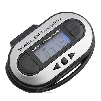 3.5mm LCD FM Transmitter Car Kit for Cell Phone, MP3, CD, DVD Players