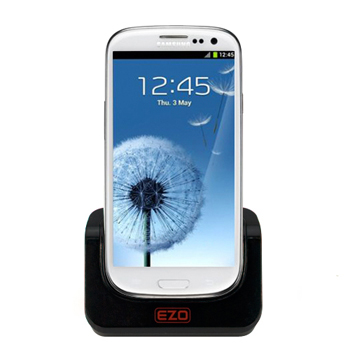 EZOPower Dual Cradle Charger with Case Plat for Samsung Galaxy S3 (EZCR28)