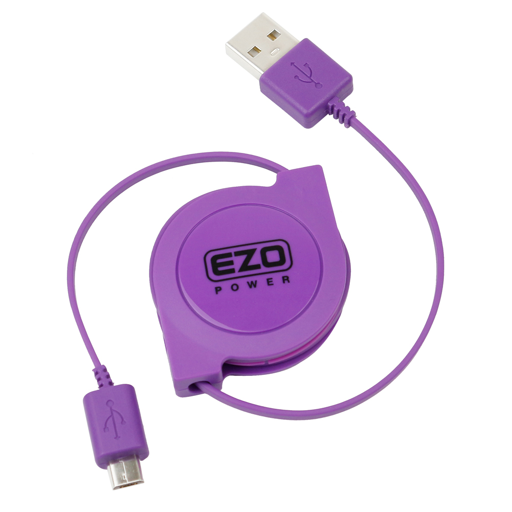 EZOPower 3ft High Speed Retractable USB 2.0 to Micro-USB Sync Charge Data Cable