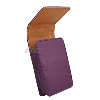 Universal Vertical Leather Pouch Case with Belt Clip - Purple (140 x80 x12.5 mm)