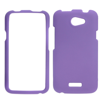 Rubberized Hard Case for HTC AT&T One X Endeavor - Purple