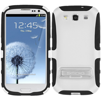 Seidio ACTIVE Case with Kickstand for Samsung Galaxy S3 - White (CSK3SSGS3K-GL)