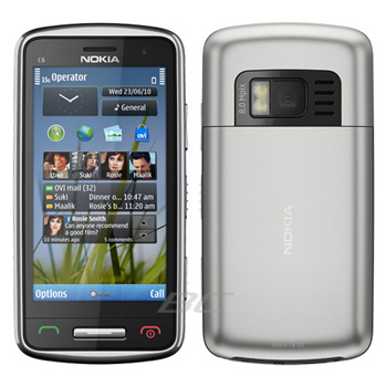 New Unlocked GSM Phone for Nokia C6-01 - Silver