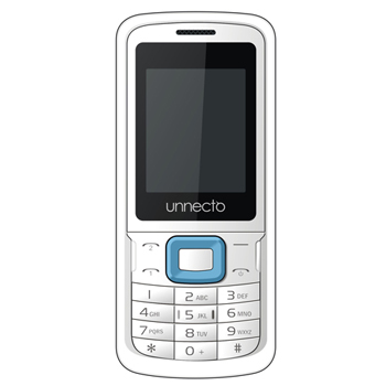 Unnecto ECO (U-100-2) GSM QuadBand Dual Sim, Dual Standby, Single Talk Unlocked Bar Phones -  White/Blue