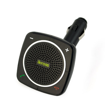 iKross Bluetooth Handsfree Car Speakerphone with USB Charging Port