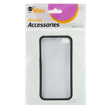 Front/Back Rubberized Hard Case for Apple iPhone 4 4S - Black