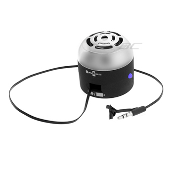 Go-Rock Portable Mini Speaker with Retractable Cables - Black (TRMS02MC-BK)