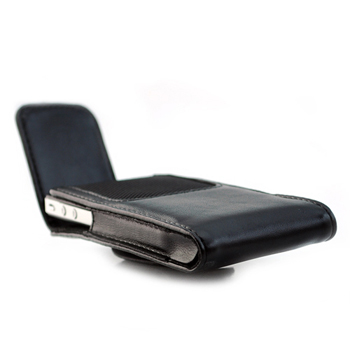 Leather Pouch Case with Clip for Apple iPhone 4 4S / iPod Touch 4G 3G 2G - Black