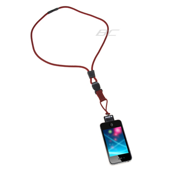 iCat Neck It Lanyard Holder for Apple iPhone iPod - Red