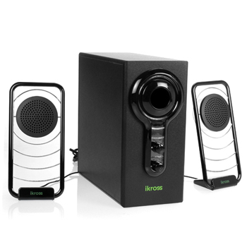 iKross BlueLED Satellite Speaker Stereo Sound System with Subwoofer (IKSP11)