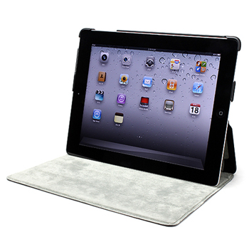 Stand Slim Snap On Case for Apple iPad 3 - Black Match Grey