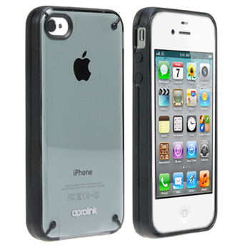 Aprolink Dual Shell Case with Photo Frame Package for iPhone 4 &amp; 4S - Black (IPF-406-01)