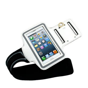 Evecase Sport Armband Case for Apple iPhone 5 - White