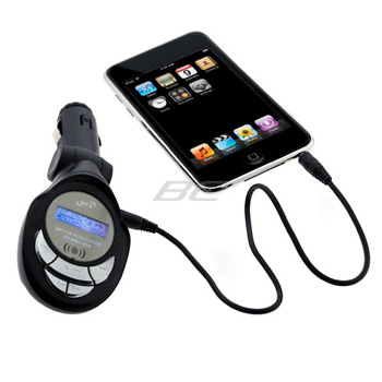 Universal 3.5mm FM Transmitter Car Charger Kit with LCD &amp; Remote Control