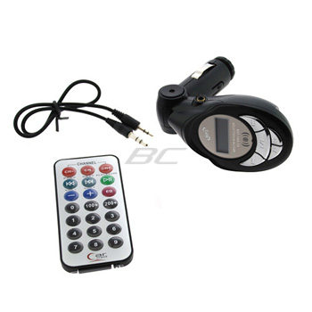Universal 3.5mm FM Transmitter Car Charger Kit with LCD & Remote Control