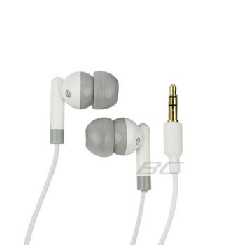3.5mm Soft Gel Stereo Headset - White