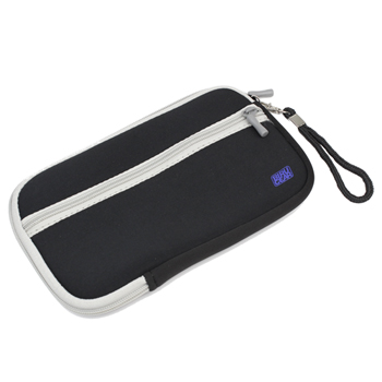 Universal Neoprene Zipper Pouch Case 7inch - Black