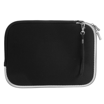 Universal 7-Inch Tablet Neoprene Sleeve Case with Pocket - Black