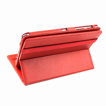 360 Degrees Rotating Stand PU Leather Case for Samsung Galaxy Tab 7.7-inch - Red
