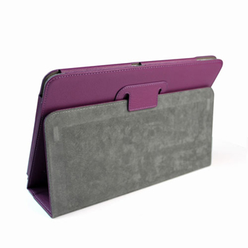 PU Leather Stand Case for Acer ICONIA TAB A200 - Purple