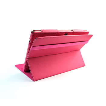 EveCase 360-Degree Rotating Stand Leather Case for Asus Transformer Pad TF300 - Hot Pink