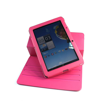 EveCase 360-Degree Rotating Stand Leather Case for Acer Iconia Tab A510 - Hot Pink