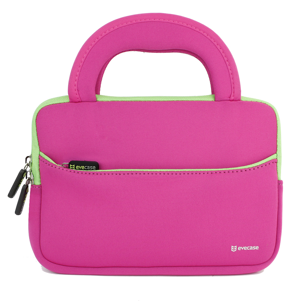 EveCase S Hot Pink / Green Tablet Neoprene Zipper Case with Handle for Apple iPad Mini with Retina Display & more at Sears.com