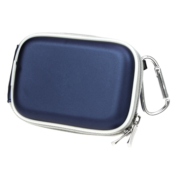 Digital Camera Zipper Pouch Case - Blue