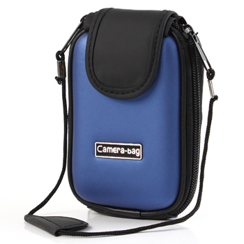 Digital Camera Eva Leather Pouch Case – Blue/Black