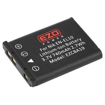 EZOPower Nikon EN-EL10 Replacement Battery - 740mAh