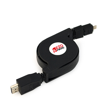 EZOLink Retractable Micro HDMI v1.4 Flat Cable - 3 Feet