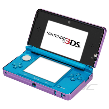 Aluminum Hard Metal Cover Case for Nintendo 3DS - Dark Purple