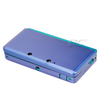 Aluminum Hard Metal Cover Case for Nintendo 3DS - Dark Blue