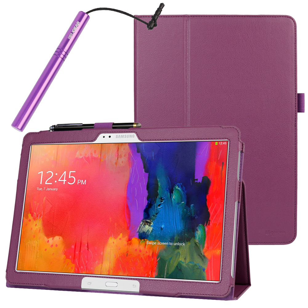 EveCase Combo for Samsung Galaxy Note Pro / Tab Pro: Purple Folio Stand Case + Stylus Pen at Sears.com