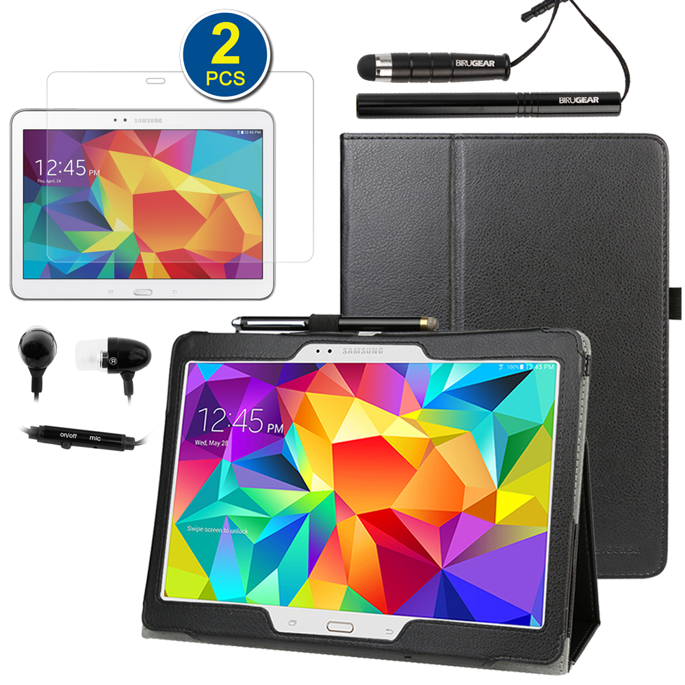 EveCase Bundle for Samsung Galaxy Tab S 10.5: Black Stand Case + 2x Screen Protector + 2 Stylus + Headset at Sears.com
