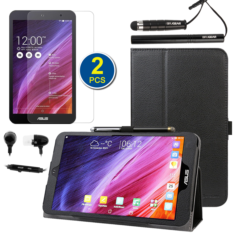 EveCase Bundle for ASUS MeMO Pad 8 ME181C: Black Stand Case + 2x LCD Protector + 2 Stylus + Headset at Sears.com