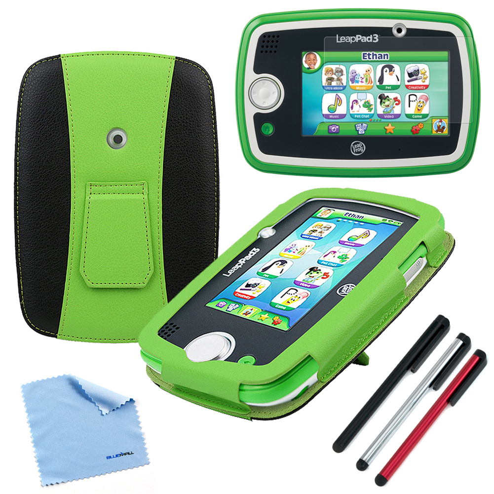 EveCase Bundle for 2014 LeapFrog LeapPad 3: Green / Black Kickstand Case + LCD Protector + Stylus + Cloth at Sears.com