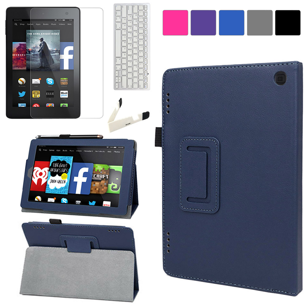 EveCase Bundle for Amazon Fire HD 7?: Blue Stand Case + LCD Protector + Bluetooth Keyboard + Stand at Sears.com