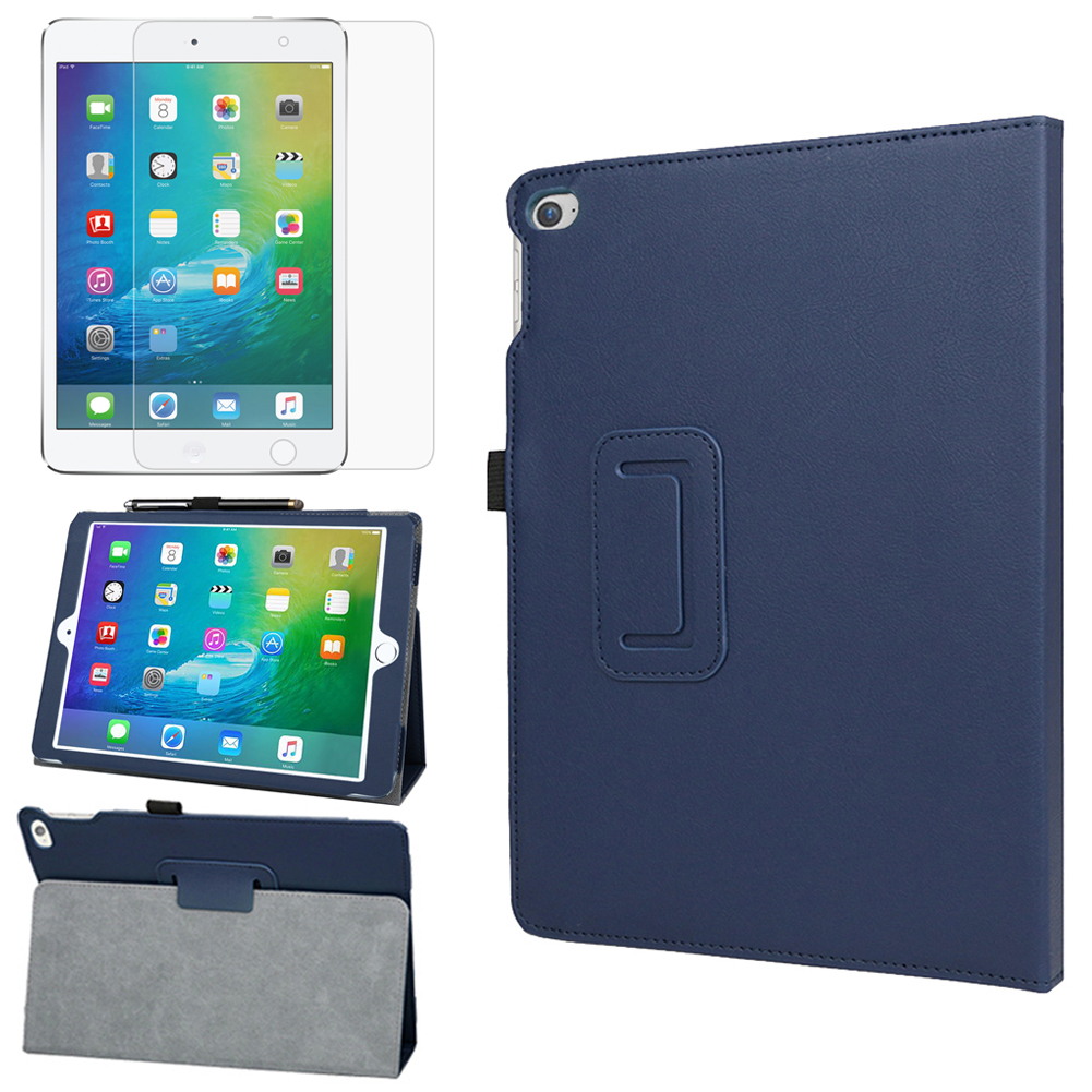 EveCase Combo for Apple iPad Air 2: Premium Blue PU Leather Slim Folio Stand Case + Screen Protector at Sears.com