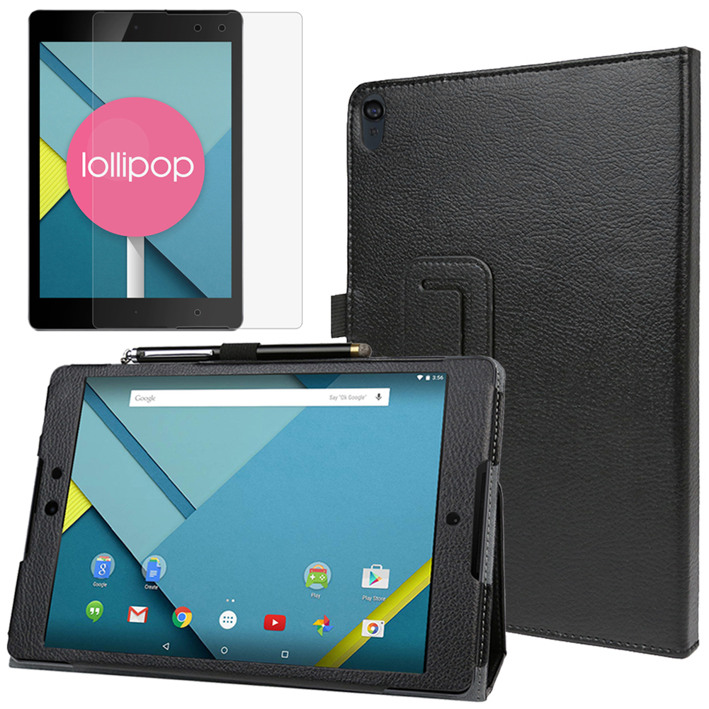 EveCase Combo for HTC Google Nexus 9: Premium Black PU Leather Slim Folio Stand Case + Screen Protector at Sears.com