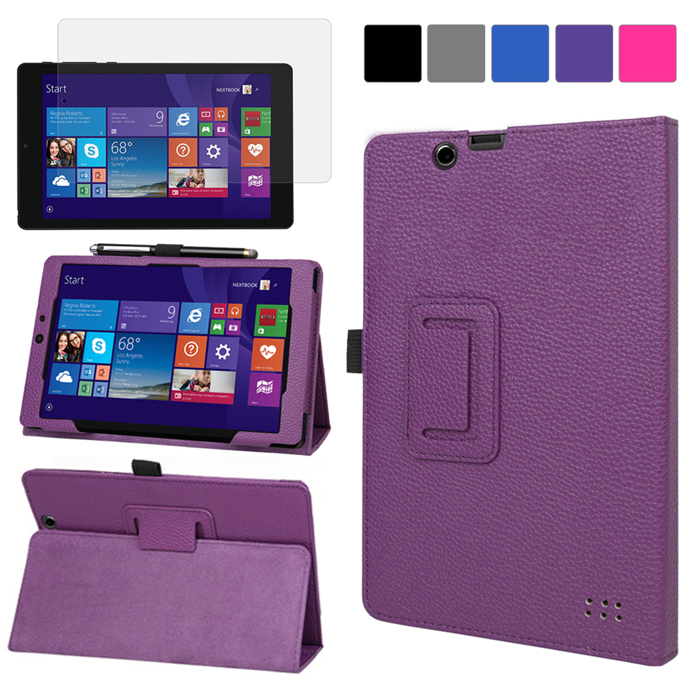 EveCase Bundle for E-Fun Nextbook 8? NXW8QC16G: Purple PU Leather Slim Folio Stand Case + Screen Protector at Sears.com